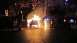 Požár kontejneru v Lipkách - Hradec Králové - 1.1.2017