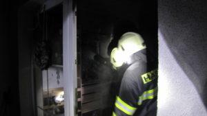 Požár pojistkové skříně - Černillov