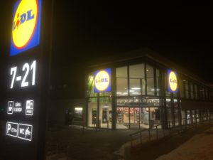 Zrekonstruvaná prodejna LIDL - Brněnská