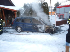 Požár vozu Žitetín