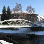 Město Žamberk - Most pro pěší i auta, spojující Husova a Havlíčkovo nábřeží přes Divokou Orlici