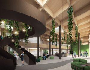 Vzhled interiéru nového budoucího administrativního centra