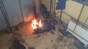Požár v kravíně - Dolní Lánov