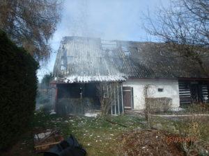 Požár roubenky - Starobucké Debrné