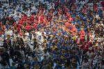 Společné cvičení kata Heian Shodan (Heian – v překladu z japonštiny klid a mír) za mír na slavnostním nástupu MS SKIF 2019 – celkem 1359 cvičenců – údaj bude zapsán do České knihy rekordů. autorem fotografií Ondřej Littera